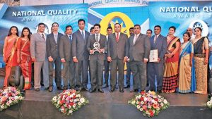 CEO, ABM Ceylon Limited, M. Ramachandran and his team with the award.